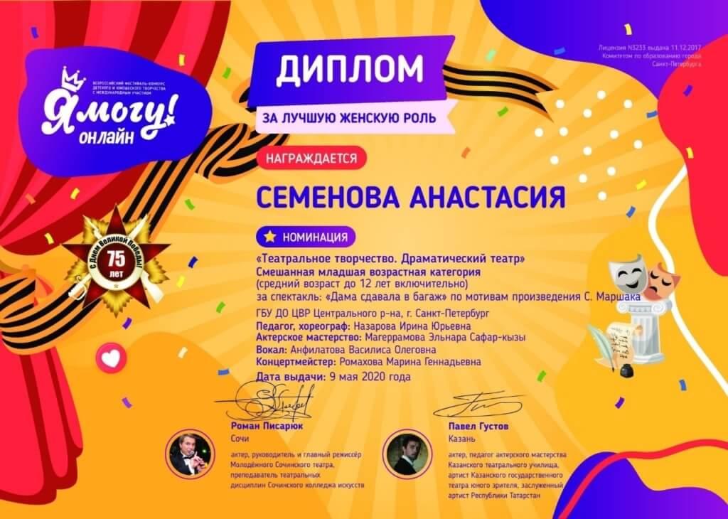 Очередная победа на Международном конкурсе! Высшая награда Гран-при!!!